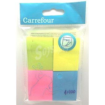 Carrefour Notas Adhesivas 4x100 uds 1 ud