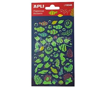 APLI Pegatinas con relieve, figuras peces, appli
