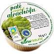 Paté vegetal de alcachofa libre de colesterol ecológico Envase 50 g Soria Natural