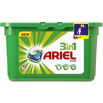 ARIEL Detergente máquina líquido 3 en 1 Pods envase 12 unidades