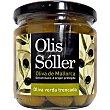 Aceitunas verdes partidas con hueso D.O.P. Mallorca Envase 200 g neto escurrido Olis soller