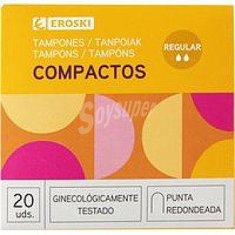 Eroski Tampón compacto normal Caja 20 unid