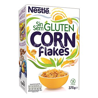 NESTLE Cereales Corn Flakes sin gluten paquete 375 gr