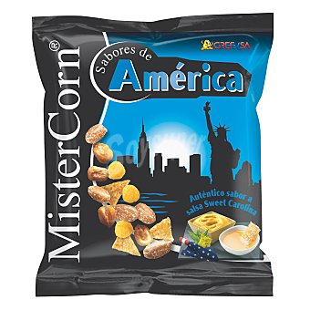 MisterCorn Grefusa Cócteles de frutos secos auténtico sabor a salsa Sweet Carolina Bolsa 155 g