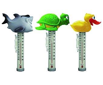 GARDEN STAR Termómetro para medir la temperatura del agua, con divertidos animales en la parte superior 1 unidad