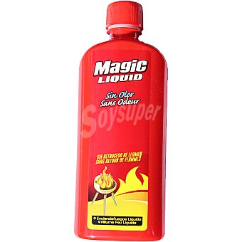 Magic Enciende fuegos líquido sin olor botella 500 ml Botella 500 ml