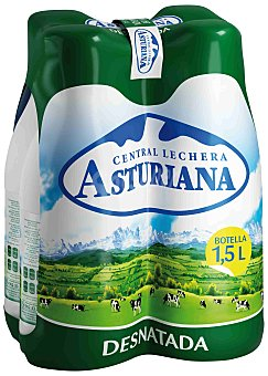 Central Lechera Asturiana Leche Desnatada Pack 4x1,5 litros