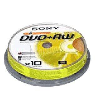 Dvd + rw tarrina 10 unidadad Unidad