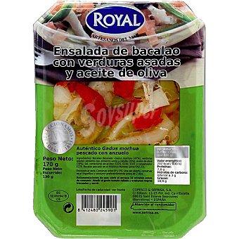 Royal Ensalada de bacalao con verduras asadas y aceite de oliva 170 g