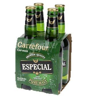 Carrefour Cerveza Especial Carrefour Pack de 4 botellas de 33 cl