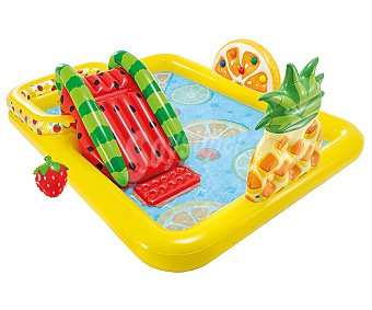Intex Piscina infantil hinchable con centro de juegos y diseño de frutas, 144x191x91cm. intex.