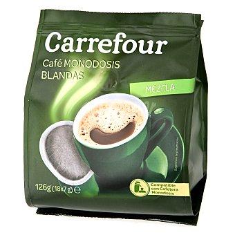 Carrefour Café mezcla monodosis blandas Pack de 18x7 g