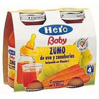 Hero Zumo de manzana desde 4º mes Pack 2x130 ml