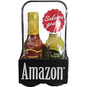 Amazon Salsa habanero y green amazon pack 2 botellas pack 2 botellas