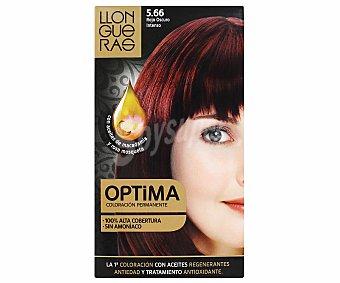 Llongueras Tinte nº 5.66 Rojo Oscuro Intenso Optima con Aceites de Macadamia y Rosa de Mosqueta 1 ud