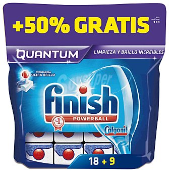 Finish Pastillas Lavavajillas quantum powerball 18 + 9 pastillas