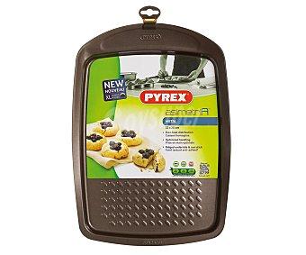 PYREX Bandeja de acero carbonatado con recubrimiento antiadherente rugoso para horno modelo Asimetria, 33x25 centímetros 1 unidad
