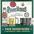 Cerveza rubia checa Kit Degustación + Jarra 4 botellas 33 cl Pilsner Urquell