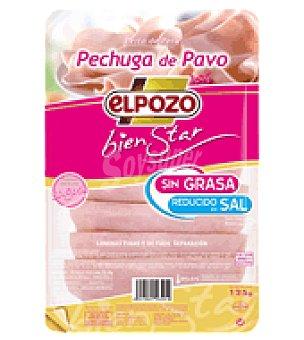 ElPozo Pechuga pavo 0% 'bienstar' sin sal 125 g