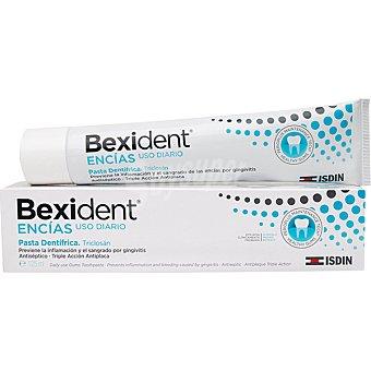 Bexident Encías pasta dentífrica con Triclosán de uso diario antiséptico y triple acción antiplaca tubo 125 ml previene la inflamación y el sangrado por gingivitis Tubo 125 ml