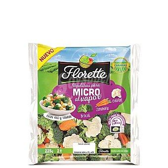 Florette Verduras para micro al vapor brócoli, zanahoria y coliflor Bolsa 225 g