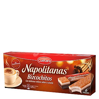 Cuétara Bizcochos napolitanas Caja 117 g (6 u)