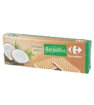 Carrefour Barquillos coco 125 g