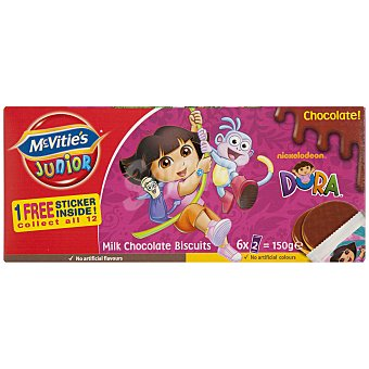 McVities Galletas con chocolate Dora Paquete 150 g