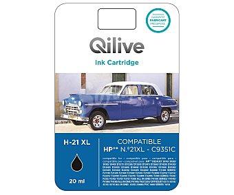 Qilive Cartucho de tinta compatible HP 21XL, negro, compatible con: HP DESKJET 3910 /3920 / 3930 / 3940 / D1311 / D1320 D1330 / D1341 / D1360 / D1420 / D1430 / D1445 / D1455 / D1460 / D1468 / D1468 / D1520 / D1530 / D1560 / D2330 / D2345 / D2360 / D2430 / D2445 / D2460 / D2468 / F2110 / F2120 / F2140 / F2180 / F2185 21XL negro compatible