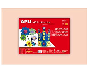 APLI Plancha de foam, goma eva de color piel clara y dimensiones 400x600x 2 milímetros 1 unidad