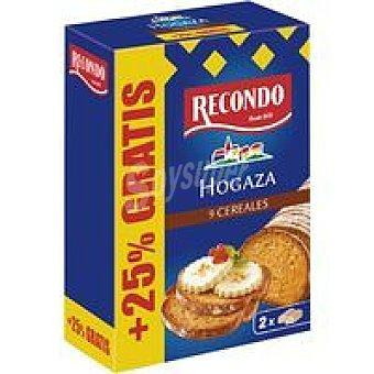 Recondo Pan tostado hogaza cereales Caja 240 g + 25%