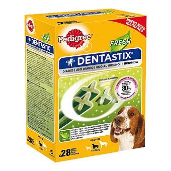 Pedigree Dentastix Snacks para perros de raza mediana para un aliento fresco  Caja 28 unidades (720 g)