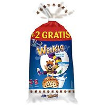 Weikis La Bella Easo Bollo Pepitas Choco Paquete 6 unid + 2