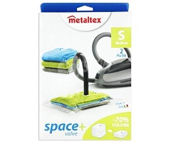 METALTEX Fundas multiusos ropa vacío con válvula, 40x50cm 2 Unidades