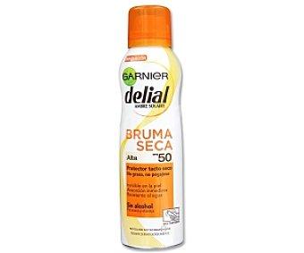 DELIAL Bruma seca solar, protector tacto seco, factor protección 50 200 Mililitros