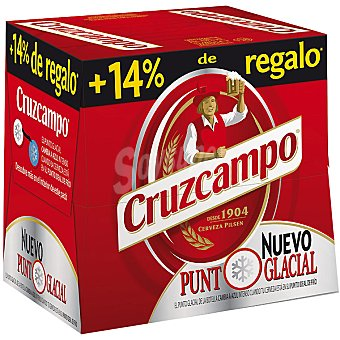 CRUZCAMPO cerveza rubia nacional  pack 12 botella 28,5 cl