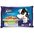 Fantastic alimento húmedo para gato selección de verduras en gelatina 4 unidades Pack 4 bolsitas x 100 g Purina Felix