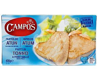 Campos Filetes de atún solomillos sin piel Estuche 360 g neto escurrido