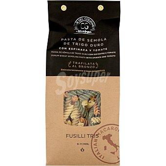 Club del gourmet Fusilli tris pasta de sémola de trigo duro con espinaca y tomate paquete 500 g paquete 500 g