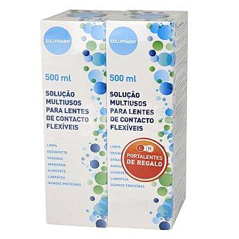 Solu pharm Solución multiusos para lentillas 2x500 ml