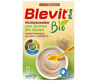 BLEVIT PLUS BIO Papilla multicereales bio con quinoa y sin gluten, a aprtir de 4 meses 250 g