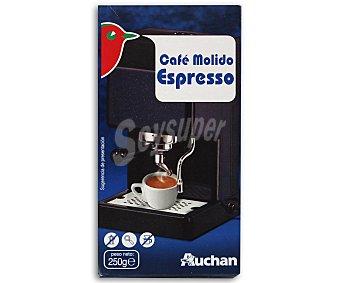 Auchan Café molido espresso de tueste natural 250 gramos