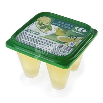 Carrefour Granizado de mojito 4 envases de 106 g