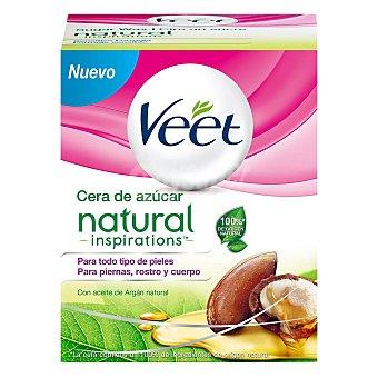 Veet Cera tibia depilatoria a base de azúcar para todo tipo de pieles Caja 250 ml