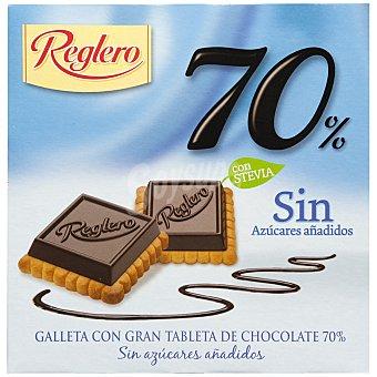 Reglero Galleta de chocolate 70% sin azúcar Caja 140 g