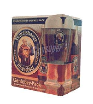 Franziskaner Franziskaner dunkel pack + vaso 5 botellas de 500ml