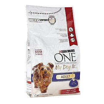 Purina One Pienso para perros adultos minis buey y arroz 1,5 Kg