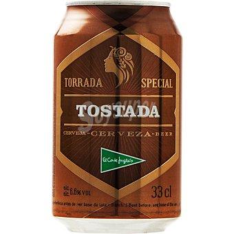 El Corte Inglés Cerveza rubia Tostada lata 33 cl Lata 33 cl