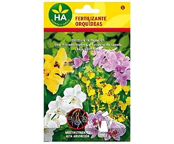 HA-Huerto y Jardín Fertilizante para orquídeas soluble, sobre para preparar 1 Litro 4 Gramos
