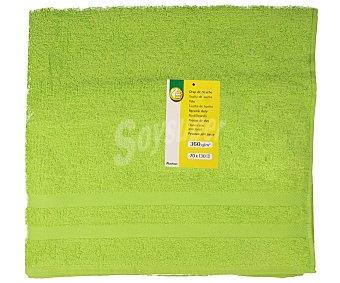Productos Económicos Alcampo Toalla de ducha 100% algodón color verde, densidad de 360 gramos/m², 70x130 centímetros 1 unidad